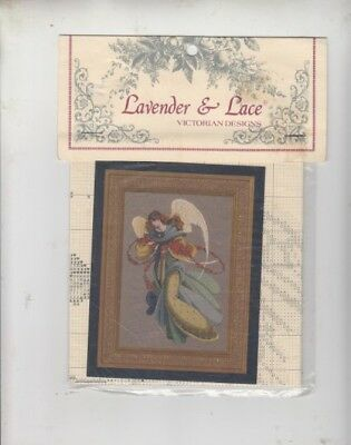 Lavender and Lace= 'Angelica.'' CROSS STITCH CHART ONLY= NEW
