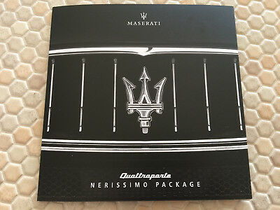 Maserati Quattroporte Nerissimo Package Sales Folder Brochure 2018 Usa Edition