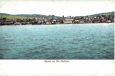 Postcard NY Rockland County Nyack On The Hudson 1900s Undivided Back