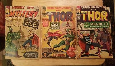 Journey Into Mystery #96 #108 #109 Vol 1  the mighty Thor  Low Grade