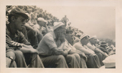 1944 WWII Bob Hope USO Show Maui Hawaii 2 Photos crowd & Patty Thomas