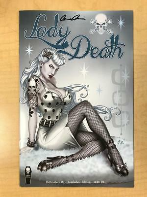 Lady Death Hellraiders #1 BOMBSHELL Variant Cover by David Harrigan Signed