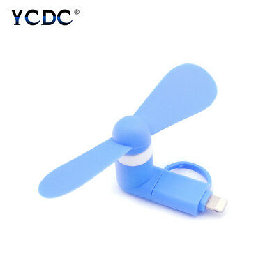 Portable 2-In-1 Small Usb Fan For Iphone Android Mobile Phone Strong Wind Ffff