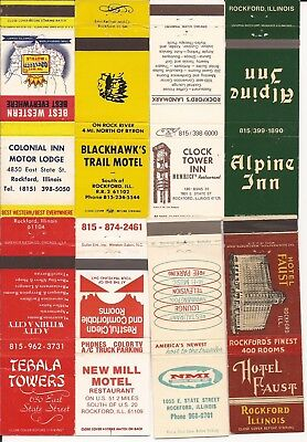 Rockford, IL matchcovers