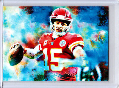 2018 Patrick Mahomes Kansas City Chiefs 1/1 ACEO Stance Sketch Print Card By:Q