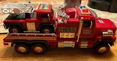 2015 Hess Toy Fire Truck and Ladder Rescue ~ No Box
