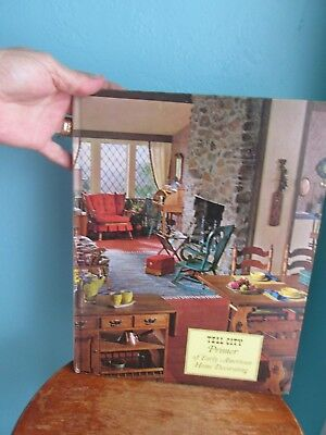 """1968 """"Tell City Primer of Early American Home Decorating"""" HB Book/Planning Graph"""