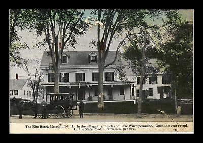 Dr Jim Stamps Us Elm Hotel Meredith New Hampshire View Postcard