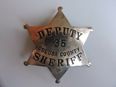 California - Colusa County Deputy Sheriff - Low Number