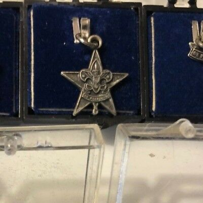 One Sterling Silver Star  Rank  Boy Scouts Of America