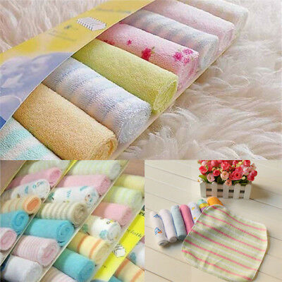 8Pcs/Pack Infant Newborn Baby Soft Bath Towel Washcloth Feeding Wipe Cloth Pad