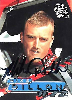 MIKE DILLON - Hand Signed Autographed  1999 Press Pass  Card #45