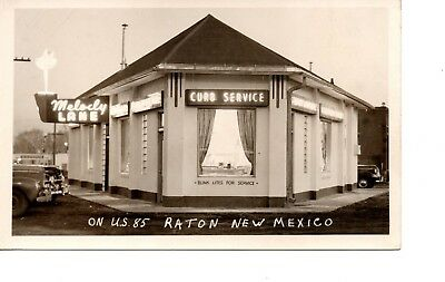 Melody Lane Drive In ~ Rppc Diner Curb Svc ~ Raton New Mexico Gas Station 192