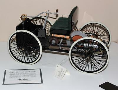 Franklin Mint The 1896 Ford 1:6 Scale Quadricycle 1st Engine Powered Diecast COA