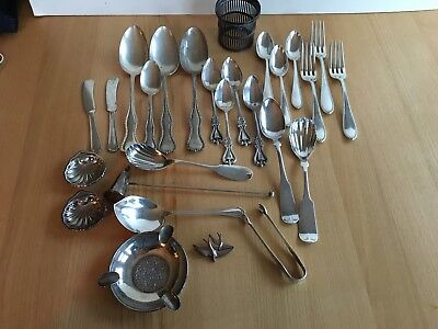 ANTIQUE  STERLING SILVER LOT SCRAP OR NOT 883g  All nice shape