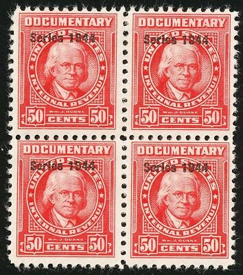 Dr Jim Stamps Us Scott R396 50C Documentary S1944 Block Unused Og Nh No Reserve