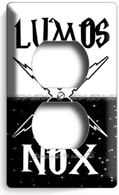 ⚡Harry Potter Lumos Nox Magic Words Day Night Power Outlet Wall Plate Room Decor
