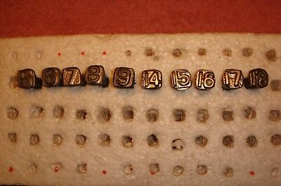 Low Numbered SQUARE RAILROAD DATE NAILS- Total 10 –  Lot #27