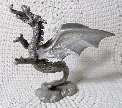 Vintage 1985 Spoontiques Pewter Figurine~Dragon with Tongue Out #602