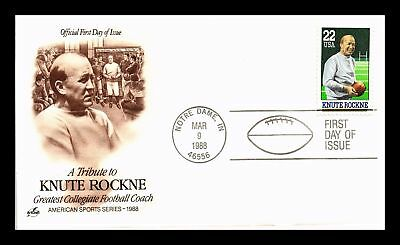 Dr Jim Stamps Us Knute Rockne College Football Coach First Day Cover Notre Dame