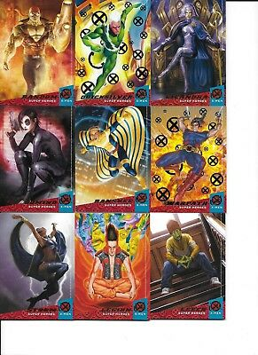 2018 Fleer Ultra X-Men 27 Card lot Base Silver Inserts + See Disc.