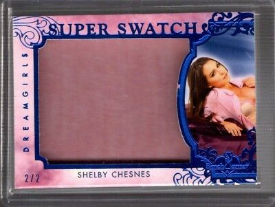 SHELBY CHESNES 2/2 2018 BENCHWARMER DREAMGIRLS UPDATE SUPER SWATCH wd5