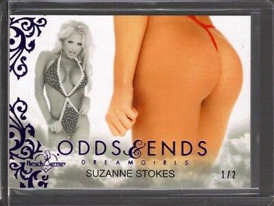 SUZANNE STOKES 1/2 2018 BENCHWARMER DREAMGIRLS UPDATE ODDS & ENDS BUTT CARD wd5
