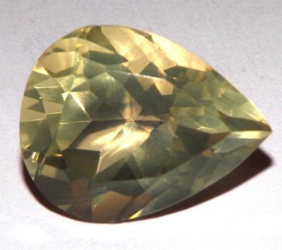 18.30 Ct Lemon Quartz Natural Untreated 20 x 16 mm Pear Shape Gem #dlq713
