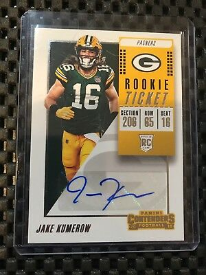 Jake Kumerow 2018 Contenders Rookie Ticket Auto Autograph Rc Packers #272