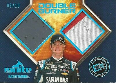 2013 13 Press Pass Ignite Kasey Kahne Double Burner #/10 Chevrolet SCARCE
