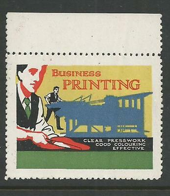 """USA early """"Business Printing"""" Poster Label"""