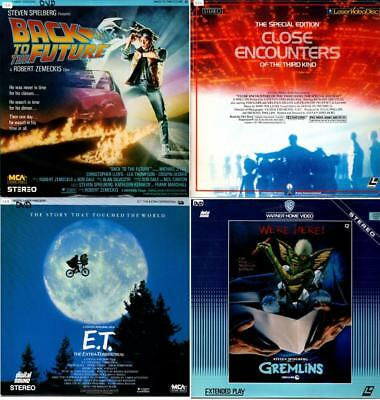 Laser Discs BACK TO THE FUTURE, CLOSE ENCOUNTERS, E.T., GREMLINS