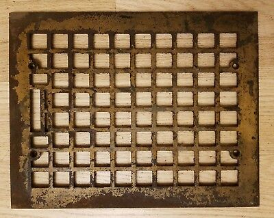 Antique Cast Iron Heat Grate Floor Vent Register Cover 9x12 11x14 Victorian Old