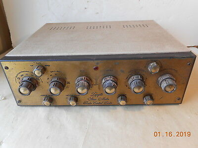 Lafayette Stereo Master Audio Control Center Kt - 600 Tube 7025 Parts Or Restore