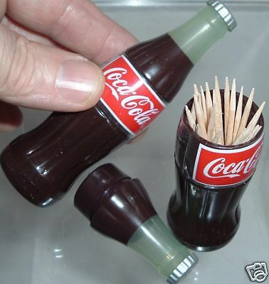 Kitchen Coca Cola Coke Bottle TOOTHPICK HOLDER with SEALED TOOTHPICKS > MINT