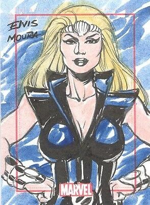 2014 Marvel 75th Anniversary SketchaFEX Color Sketch Card Namora by Elvis Moura