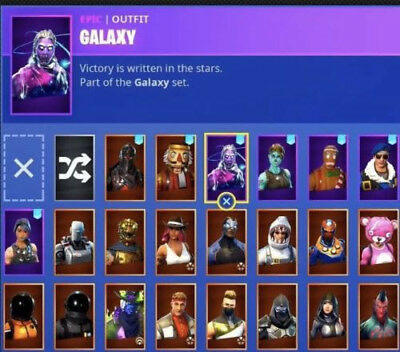 Fortnite Account, Black Knight, Galaxy, And Many Other Rare Skins,    * RAFFLE *