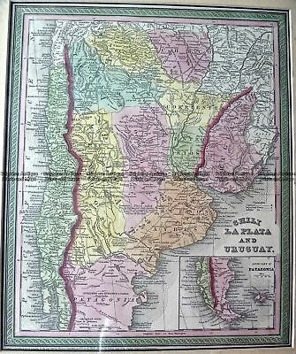 Antique Map 230-126  Chili, Argentina and Uruguay by Cowperthwait c.1854