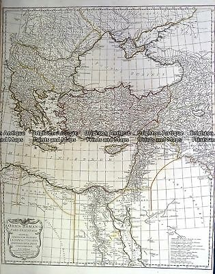 Antique Map 230-130  Orbis Romani by D'Anville  c.1785 World and Hemispheres