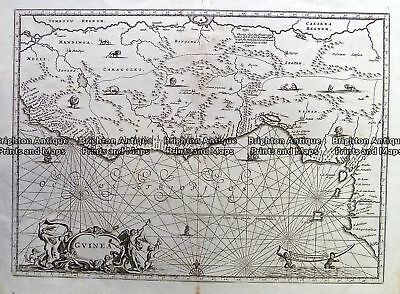 Antique Map 230-153  Guinea by Ogilby  c.1670 Western Africa