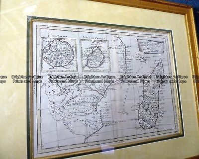 Antique Map 230-154  Madagascar & Mozambique by Zatta  c.1784 Eastern Africa