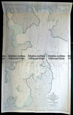 Antique Print Antique Map 230-529  Sydney Harbour Navigation Chart