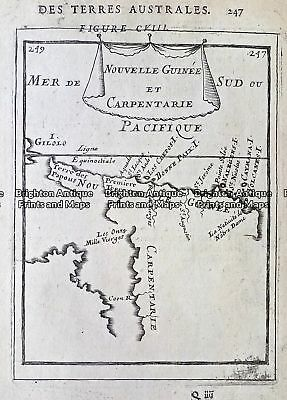 Antique Map 230-535  Nouvelle Guinee et Carpentarie by Mallet c.1683