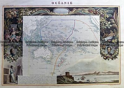 Antique Map 230-541  Oceanie by Levasseur  c.1845 Australia - Continent