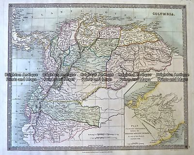 Antique Map 230-639  Colombia - South America by Teesdale  c.1831