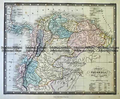 Antique Map 230-640 Colombia - South America by Wyld  c.1840