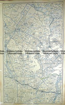 Antique Map 232-028  Sydney street map - Ryde, Ashfield and Concord  c.1954 NSW