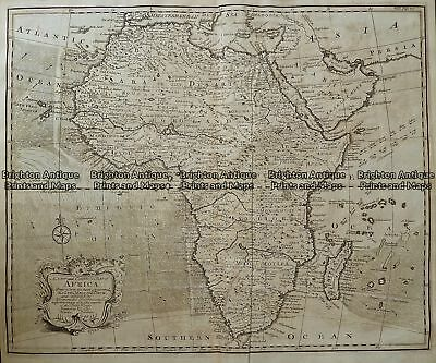 Antique Map 232-076  New and Accurate map of Africa  by Bowen c.1744