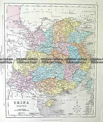 Antique Map 232-150 China by Archer  c.1865 China & Japan & Korea
