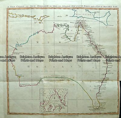 Antique Map 232-270  New Chart of New Holland by Andrews c.1787